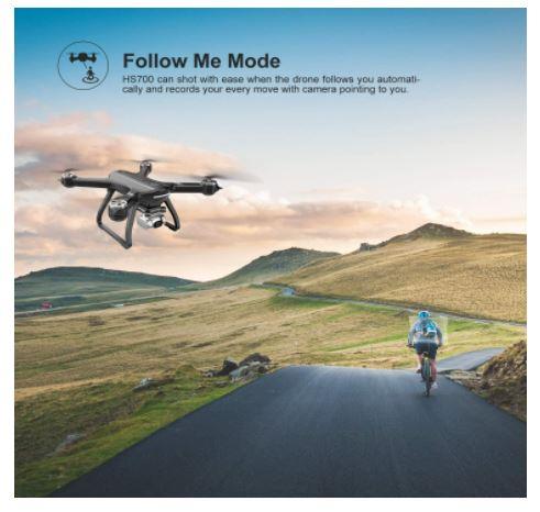 follow me mode of hs700d drone