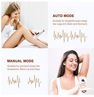 Feeke hair removal using mode