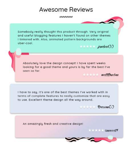 feedback of fastest wordpress theme skin