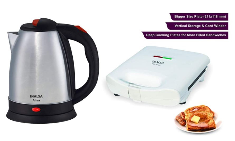 inalsa electric kettle and toast combo