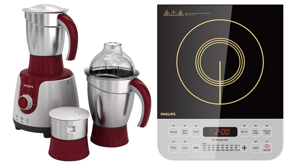 philips mixer grinder and induction cooktop combo