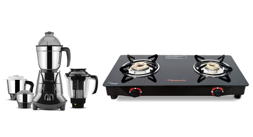 butterfly mixer grinder and gas stove combo