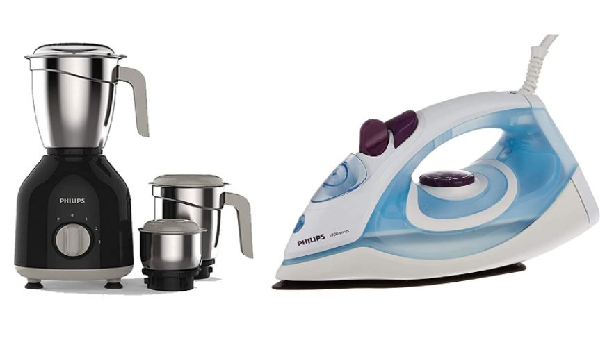philips combo of mixer grinder and steam iron