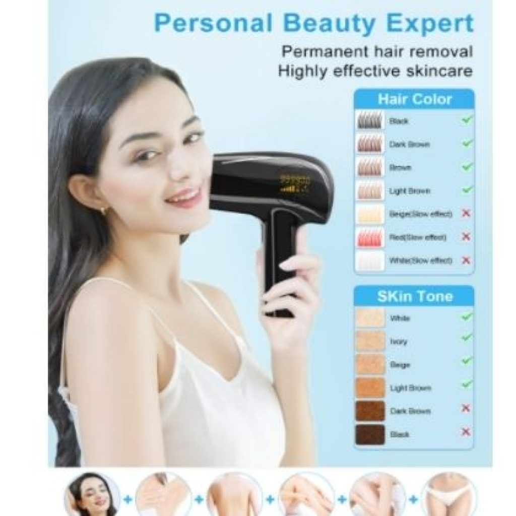999,000 Flashes IPL Permanent Hair Removal