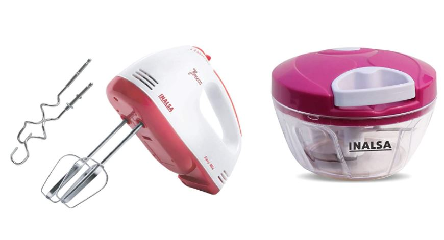 inalsa combo offer hand mixer and chopper
