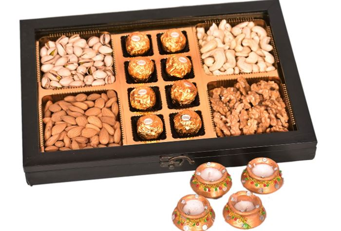diwali exclusive dry fruits gift hamper for employees