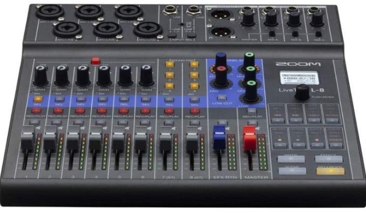 Zoom LiveTrak L-8 Podcast Recorder-Rodecaster Pro