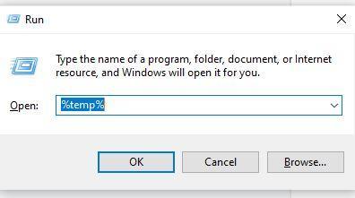 short cut key of deleting temp