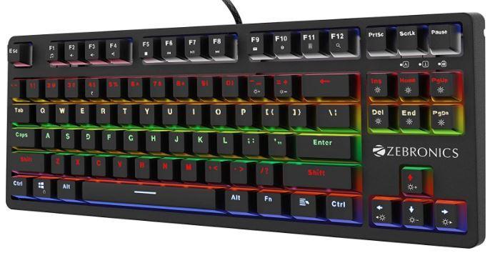 Zebronics Zeb-MAX V2 Premium Mechanical TKL (Tenkeyless) Keyboard