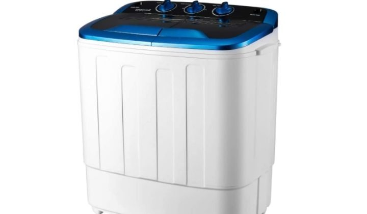 EROMMY Portable Mini Cloth Twin Tub Washing Machine