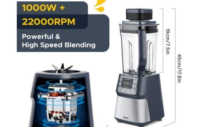 IKICH Vacuum Blender, Professional Countertop Blender Ice Crusher